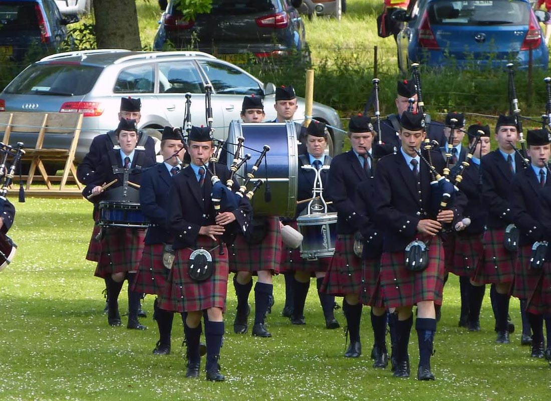 The Vale of Atholl Pipe Band