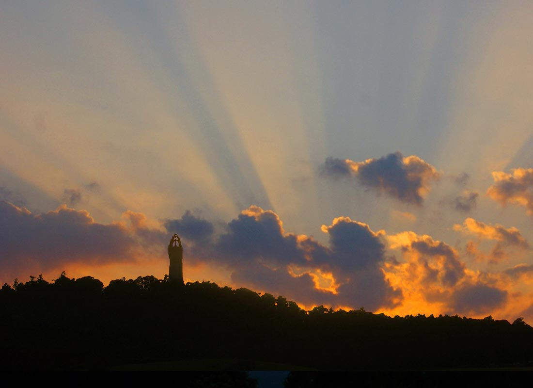 The National Wallace Monument, Stirling at sunset