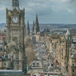 Edinburgh's Princes Street from Calton Hill