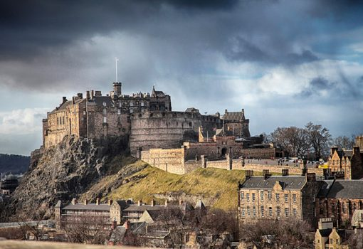 Edinburgh Castle from the National Museum of Scotland